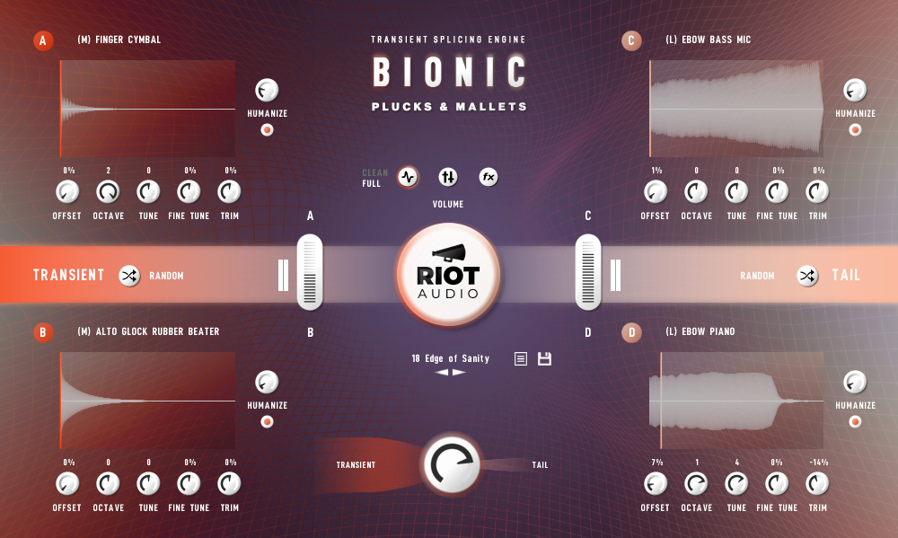 BIONIC PLUCKS AND MALLETS - Kontakt User Interface View Screen 1